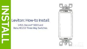 leviton presents how to install a three and 3 way switch wiring leviton 3 way switch home depot at Leviton 3 Way Wiring Diagram