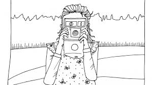 Small Picture Coloring Page Meet Olive Us Olive with her camera Olive Us