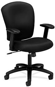 This mesh office chair from fdw combines a professional aesthetic with an affordable price tag.view deal. Amazon Com Hon Hvl220 Va10 Mid Back Task Chair Fabric Computer Chair With Arms For Office Desk Black Hvl220 Furniture Decor