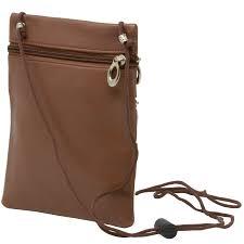 soft leather purse organizer shoulder bag 4 pocket micro handbag travel wallet 3