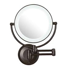 bathroom mirror home decor circular wall all mirrors wayfair led lighted xx magnification wall mount mirror hom