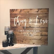 custom made 30x30 wedding guest book wood sign alternative book with heart last