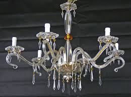chandelier crystal glass lights led or low consumption pending drops swarovski italian new hand made art