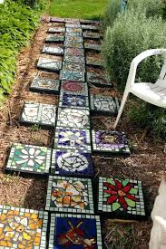 making decorative concrete stepping stones lovely stone paths walkways mosaic making decorative stepping stones make personalized for your garden k