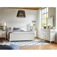 rustic casual white 4 piece queen bedroom set ashgrove rc willey furniture