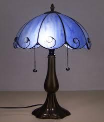 Blau Reis Weiß Tiffany Farbe Glas Tischlampe Schlafzimmer Studie
