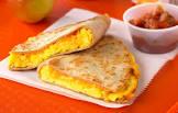 bacon and egg ranch salsa breakfast quesadillas