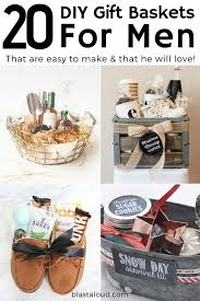20 diy gift baskets for men that he will love