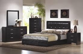 Platform Bedroom Furniture Coaster Dylan Platform Bedroom Set In Black 201401