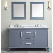 60 inch bathroom mirror. Ace 60 Inch Double Sink Whale Grey Bathroom Vanity Set With Mirror In Stores Near Me O