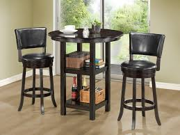 Kitchen Tables With Storage Small High Top Round Kitchen Table With Storage And Shelves For