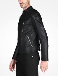 agasalho asymetrical faux leather moto jacket