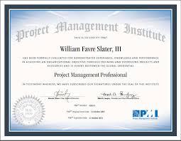 William F Slater Iii Professional Certifications