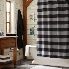 rugby stripe shower curtain