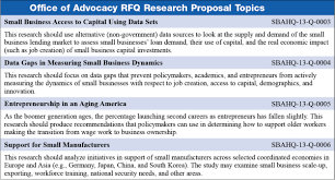 sva office of advocacy seeks proposals for new small business  click