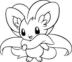 Coloriage Pashmilla Pokemon Imprimer