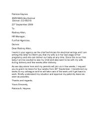 Paternity Leave Letter Sample Edit Fill Sign Online