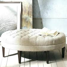 oval ottoman coffee table upholstered decorative ottomans cream leather plaid diy