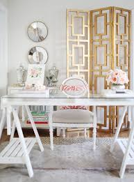 feminine office furniture. Home Office White With Glam Gold Leaf Desk Hgtv Feminine Furniture