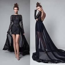Berta 2017 Long Sleeves Evening Dresses With Detachable Train
