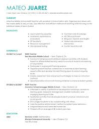 Example Resume For Teachers Gorgeous Best Teacher Resume Example LiveCareer