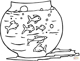 Printable Coloring Pages color pages of fish : Fish Tank Coloring Pages - FunyColoring