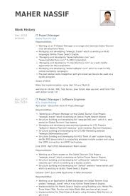Project Manager Resume Samples Amazing It Project Manager Resume Samples VisualCV Resume Samples Database