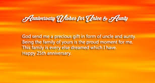 25th wedding anniversary wishes for uncle and aunty wishes4lover Happy Wedding Anniversary Wishes Uncle Aunty anniversary wishes for uncle and aunty happy marriage anniversary wishes to uncle and aunty
