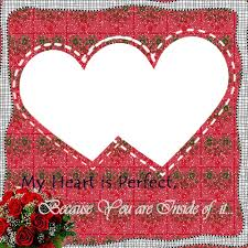 create love couple heart photo frame with your name
