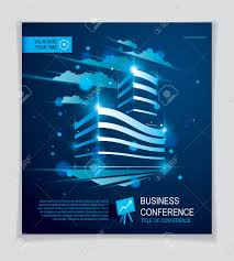 Office Building Brochure Modern Architecture Vector Flyer With