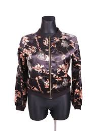 Details About Atmosphere Womens Jacket Bomber Pattern Size 40
