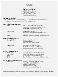 music resume for college template resume template