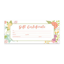 Make Your Own Gift Certificate Templates Free Floral Gift Certificate Download Flowers Premade Gift Certificate