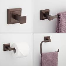 oil rubbed bronze bathroom accessories. Aaliyah 4-Piece Bathroom Accessory Set - Oil Rubbed Bronze Accessories