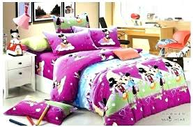 basic mickey and mouse bedding set purple brushed cotton beautiful minnie king size mickey and bedding set