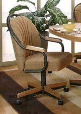 casual dining chairs with casters: casual rolling dining caster chair amp swivel tilt set of