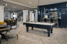 Traditional Basement Ideas With Pool Table And Bar