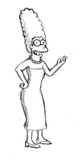How To Draw Marge From The
