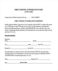 Direct Deposit Authorization Form Photo Fingerprint And – Template ...