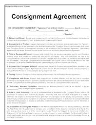 Sale Agreement Forms Consignment Sales Agreement Template