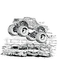Monster Truck Printable Coloring Pages Grave Digger Trucks Free