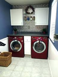 double stack washer and dryer. Lg Double Washer And Dryer Room Ideas Tin Counters Cherry Red Frigidaire Stack Combo L .