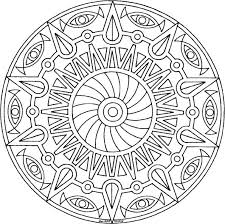 Small Picture Coloring Page Mandala Coloring Pages Free Printable Coloring