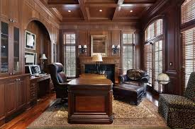home office furniture ideas. Formal Home Office Decorating Ideas With Exclusive Wooden Interior Design And Excellent Mahogany Floor Furniture