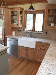 Painting Kitchen Tile Backsplash Magnificent 48 Ideas Update Oak Cabinets WITHOUT A Drop Of Paint 4820 House