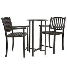 Balcony patio furniture Chairs Table Keanu Balcony Height Piece Bistro Set Amazoncom Small Balcony Bistro Set Wayfair