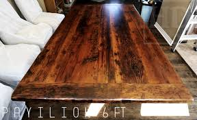 reclaimed wood tables ontario rustic farmhouse dining table frame heavy duty solid