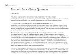 evaluation of trading blocs international baccalaureate document image preview