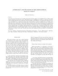Zoroastrianism Vs Christianity Chart Astrology And Religion In The Zoroastrian Pahlavi Texts
