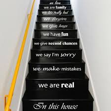 Stairs Quotes Mesmerizing Stair Decals Quotes Stairway Decals Quote In This House We Etsy